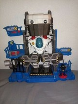 Fisher Price Imaginext Police Robot Robocop cop base headquarters lights... - $19.34