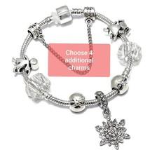 You Personalize - Silver Clear Gems Charm Bracelet, like Pandora Bracele... - $10.00
