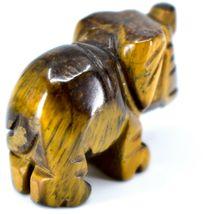 Tiger's Eye Gemstone Tiny Miniature Elephant Figurine Hand Carved in China image 4