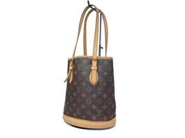 Auth LOUIS VUITTON BUCKET PM Monogram Canvas Leather Tote Bag Shoulder B... - $269.00