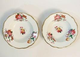 "Royal Albert Lady Angela 8"" Soup Bowls Set Of 2 Pink Flowers Gold Trim E... - $25.74"