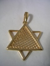 JEWISH STAR PENDANT WITH A HIGH POLISH FINISH I... - $98.95