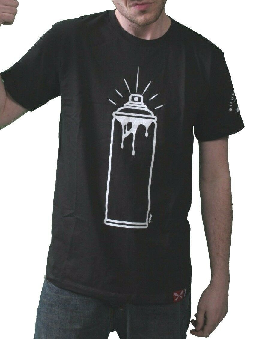 Entree Lifestyle Brooklyn New York Holy Spray Can Graffiti Black / White T-Shirt