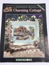 Dimensions Cross Stitch Leaflet Chart Barbara Mock Charming Cottage XS 2001 - $12.83