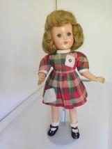 "Vintage 1950's Hard Plastic 15"" Girl - $50.00"