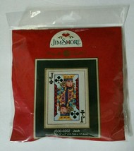 Jim Shore Jack of Clubs Cross Stitch Kit Gambling Poker Card Mill Hill Beads - $15.99