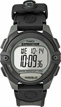 Timex Men's T40941 Expedition Full-Size Digital CAT Charcoal + Mini Compass - $42.97