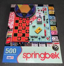 Springbok 500 Piece Puzzle Of Popular Board Games 2017 NWT Free Ship - $26.68