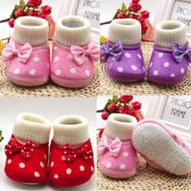 Fashion Cute Newborn Girl Warm Toddler Bowknot Hot Soft Sole Boots Baby ... - £4.29 GBP