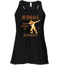 Kings Are Born In August Flowy Racerback Tank   LEO Lion Dab Flowy Racer... - $26.95+