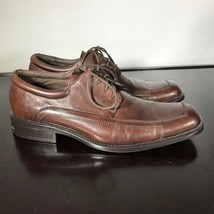 CLAIBORNE Mens Sz 10.5  Stylish Brown Leather Lace Up Oxfords Dress Shoe... - $23.76