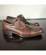 CLAIBORNE Mens Sz 10.5  Stylish Brown Leather Lace Up Oxfords Dress Shoe... - $23.76