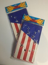 Patriotic Paper Luminaries Stars & Stripes Path Lighting Laterns Lot of ... - $12.35