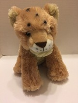 "Wild Republic Lion Baby Plush Jungle Animal Beige Yellow Eyes 12""L Stuffed Toy - $7.69"