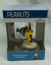 "PEANUTS WOODSTOCK W/ SKIS 3"" HALLMARK CHRISTMAS HOLIDAY ORNAMENT NEW - $14.85"