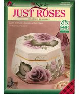 Tole Decorative Painting Just Roses Glass Tableware Worksheets Dewberry ... - $13.99