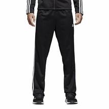adidas Men's Athletics Essential Tricot 3-Stripe Pants, Black/White - $42.75