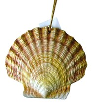 Tropical Beach Seashell Christmas Ornament Yellow 4 Inches ORNShell09 Resin - $15.76