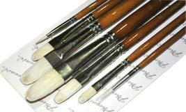 Gouache / Watercolor Paintbrushes White Long Handled Brush Sets, 7-Piece(1162S)
