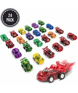 FAVONIR Pull Back Friction cars, 24 Mini Assorted Race Car Vehicle Plays... - $11.34