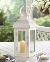 Candleholders Lanterns GABLE MEDIUM SOFT WHITE LANTERN Hanging Or Tabletop - $23.86
