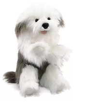 Sheepdog Hand Puppet with Moveable Mouth, Folkm... - $45.00