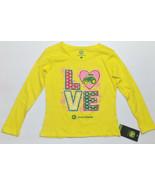 John Deere Girls Long Sleeve Yellow Love Shirt Sizes 4, 5 and 6 NWT - $11.69