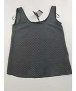 new Massimo Dutti women blouse shirt top dress black 100% silk sz 6 MSRP... - $32.66
