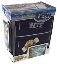 Mini Fridge To Go 12 Can All Day Cooler Navy Blue Food Beverage Shoulder... - €31,27 EUR