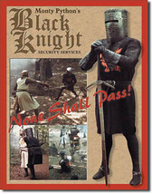 Monty Python's the Black Knight Holy Grail Classic Movie Metal Sign - $20.95