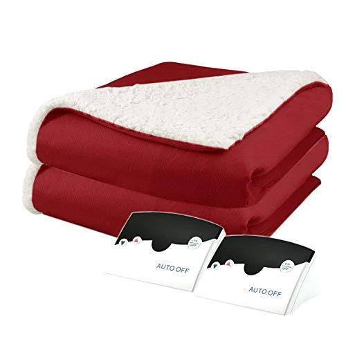 Heated Blanket. Best Heat Up Soft Portable Washable Winter Single & Double Elect