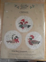 Christmas Something Special Stitchery Kit Crewel Embroidery Wild Bird Ornaments - $19.95