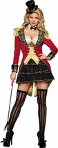 Incharacter Big Top Tease Circo Anillo Maestro Sexy Adulto Disfraz Hallo... - $94.17