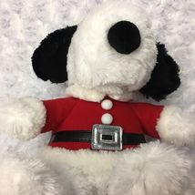 Snoopy Peanuts Hallmark Medium Christmas Holiday Stuffed Plush as Santa Bell Hat image 8