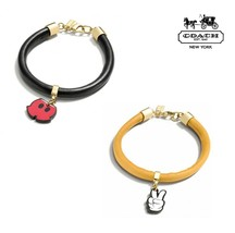 NWT COACH  MICKEY Mouse Disney Cute Peace Charm Bracelet Yellow Black F8... - $49.99
