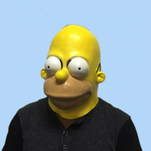 Party Mask Halloween Mask The Homer Simpsons Latex Masquerade Full Face ... - $19.50