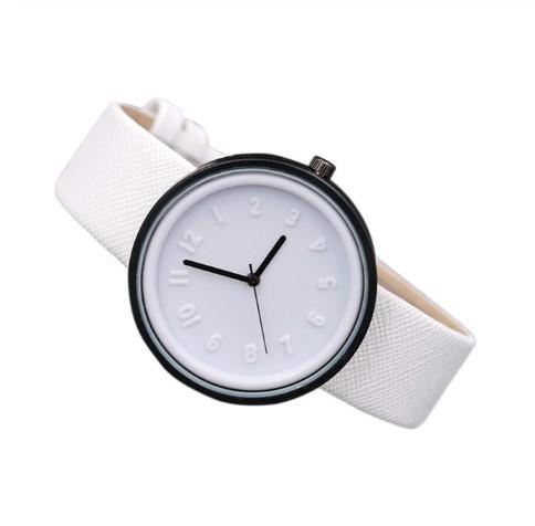 Round Simple Fashion Watches Canvas Belt Unisex Casual Wristwatch Box image 6