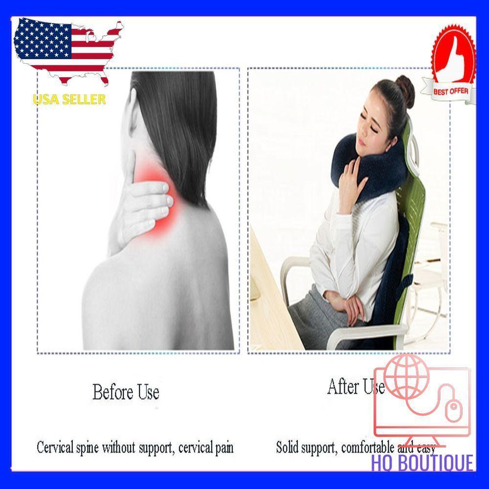 Hot Soft U Shaped support Neck memory foam pillow for travel made bamboo fiber