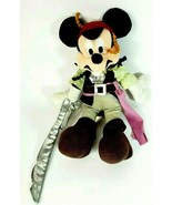 Disney Pirates Of The Caribbean Captain Jack Sparrow Mickey Mouse plush - $12.59