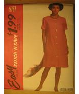UNCUT Pattern 1992 EASY McCall SIZE  6 8 10 Misses DRESS 5787 [Z25] - $4.51