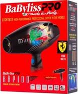 BABYLISS PRO Rapido Ferrari Engine 2000 WATTS Hair Blow Dryer BF7000 - $148.49