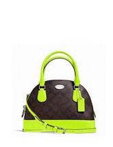 Coach Mini Cora Neon Domed Leather Satchel / Crossbody NWT - $141.79