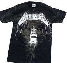 Metallica Lightning Ride Allover Classic Rock Metal Music Mens T Shirt M... - $22.99+