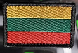 Lithuanian flag Military stripes on the velcro . Lithuanian army  Size 5... - $2.95