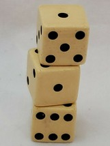 "Vintage Dice Lot of 3 Bakelite Butterscotch Standard Size 5/8"" Gaming Di... - $16.81"