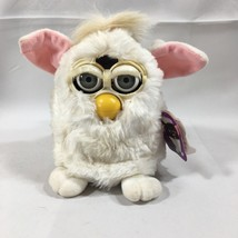 1st Original White Furby Pink Ears 1998 Model 70-800 Swing Tag Attached ... - $51.67