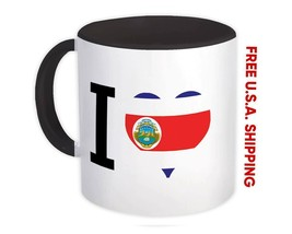 I Love Costa Rica : Mug Flag Heart Crest Country Gift Costa Rican Expat - $15.74+