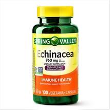 Spring Valley Echinacea Capsules Immune Health 760 mg 100 Vegetarian Cap... - $15.49