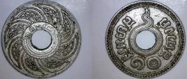 1937 BE2480 Thai 10 Satang World Coin - Thailand Siam - $14.99