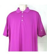 Adidas Golf Polo Shirt Collared Men Size L Purple Short Sleeve - $19.79